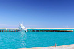 Yacht in the Red Sea. Egypt. Royalty Free Stock Images