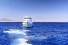 Yacht in the Red Sea. Egypt. Stock Photos