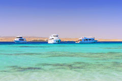 Yacht in the Red Sea. Egypt. Royalty Free Stock Photo