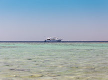 Yacht on the red sea Royalty Free Stock Photography