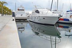 Yacht Reflection - Luxury Sailing Boat Royalty Free Stock Photography