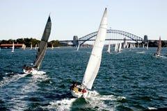 Yacht Regatta. At Sydney Harbor, Australia Royalty Free Stock Photography