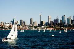 Yacht Regatta. At Sydney Harbor, Australia Stock Photos