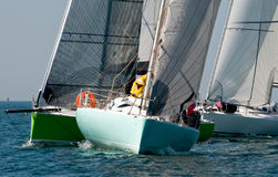 Yacht at regatta Stock Image