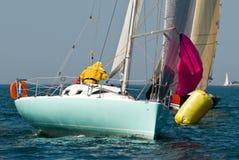 Yacht at regatta Stock Photos