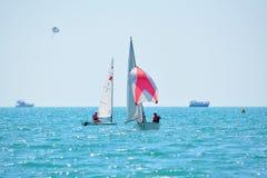 Yacht regatta Stock Images