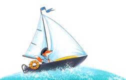 Yacht regatta. vektor illustrationer