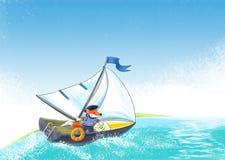 Yacht regatta. stock illustrationer