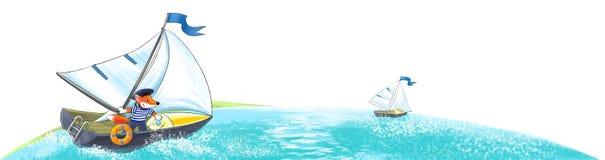 Yacht. Regatta royalty free illustration
