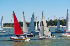 Yacht regatta dedicated to the 266 th anniversary of the city of Rostov-on-don Stock Images