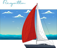 Yacht regatta. Vector illustration Royalty Free Stock Photography
