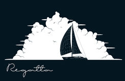 Yacht regatta. Vector illustration Stock Photography