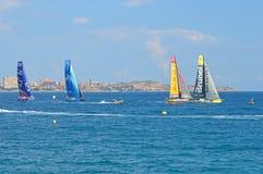 Yacht-Rennen auf der ganzen Welt Lizenzfreies Stockbild