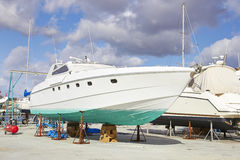 Yacht repairs Royalty Free Stock Image