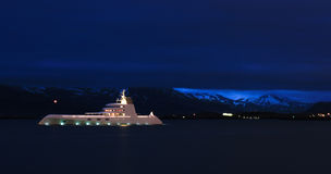 Yacht in Reykjavik, Island Stockfoto