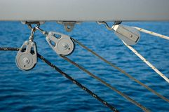 Yacht rigging detail Royalty Free Stock Images