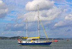 Yacht on the River Exe Royalty Free Stock Image