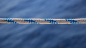Yacht rope on sea background Stock Photography