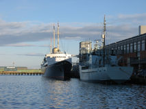 Yacht royal Britannia, Edimbourg images stock