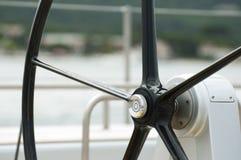 Yacht Rudder. Black Yacht Rudder. Close up Royalty Free Stock Photo