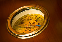 yacht`s compass Stock Photography
