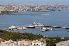 Yacht`s marin. In Baku, Azerbaijan Royalty Free Stock Photo