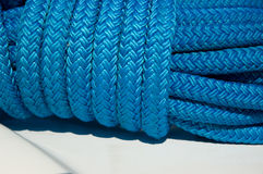 Yacht's rope Stock Images
