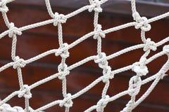Yacht Safety Net Close Up. Horizontal shot Royalty Free Stock Photography