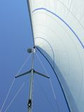 Yacht sail and mast Stock Image