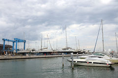 Yacht and sailboats port Rimini Royalty Free Stock Photography
