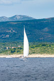 Yacht sailing in Adriatic Royalty Free Stock Images