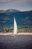 Yacht sailing in Adriatic Stock Photos