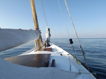 Yacht. Sailing yacht in the Aegean sea Turkey Royalty Free Stock Photography