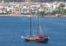 Sailing in Marmaris Resort Town Royalty Free Stock Image
