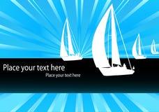 Yacht - sailing boat regatta background Royalty Free Stock Photo