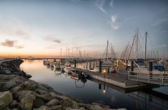 Yacht sailing Marina Royalty Free Stock Photos