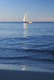 Yacht Sailing On Sea Royalty Free Stock Images