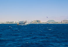 Yacht sailing in the Red Sea Stock Photography