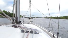 Yacht stock video footage