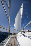 Yacht sailing on sea Royalty Free Stock Image