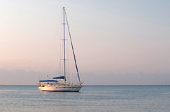 Yacht sailing on the sea Royalty Free Stock Image