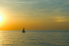 Yacht sailing on the sea Stock Image