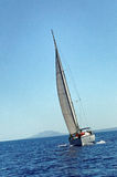 Yacht sailing at sea Stock Image