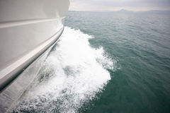 Yacht sailing on the sea Stock Photography