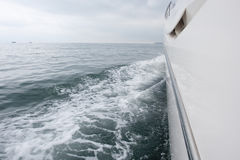 Yacht sailing on the sea Royalty Free Stock Photo
