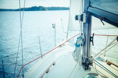 Yacht sailing Stock Photography