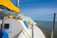 Yacht. Sailing. Yachting. Tourism. Royalty Free Stock Images