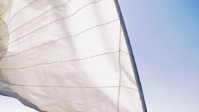 Yacht sails on the sea stock video