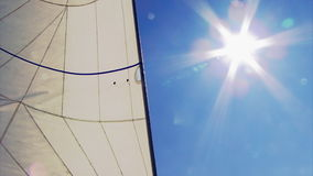 Yacht sails on the sea stock video footage