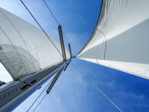 Yacht sails in the wind Royalty Free Stock Photography